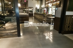 After our colleague, Beyond Concrete, made necessary corrections to repair a base slab that was in poor condition and out of level, they installed Bomanite Modena SL decorative concrete to create this stunning, high-end flooring at the Angeline by Michael Symon restaurant.