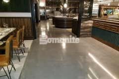 Bomanite Modena SL custom polished concrete flooring was installed here at Angeline by Michael Symon, perfectly reflecting his ode to classic Italian food and enhancing the sophisticated blend of old and new world styles.