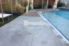 Earning the Bronze Award in 2017 for Best Bomanite Exposed Aggregate Project, our associate Bomanite of Tulsa, Inc., installed Nickel Gray and Gobi Desert Bomanite Alloy to create a hardscape surface that will provide durability, slip resistance, and add a glamorous decorative touch to the Tulsa Hard Rock Hotel pool deck.