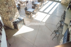 This Bomanite Exposed Aggregate Sandscape Texture decorative concrete was installed at the Gaylord Rockies Resort & Convention Center to create cohesion with the interior flooring and exterior hardscapes at this Colorado resort.