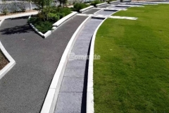 Our colleague Bomanite of Tulsa, Inc. installed Bomanite Bomacron Chipped Shale imprinted concrete along the length of Owasso's Redbud Festival Park to create a water feature and splash pad that emulate river rock and add beautiful detail to the hardscape.