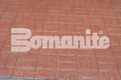 The 2018 Bomanite Imprint Systems Bronze Award was presented to Connecticut Bomanite Systems for their skillful and strenuous installation of 31,450 square feet of Bomanite Basketweave Brick imprinted concrete at Tower Plaza.