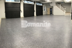 Bomanite Broadcast Flake was installed here to create a protective flooring surface that will stand up to constant use while providing an architectural finish that appeals to the homeowner.